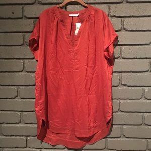 LUSH Red Tunic Blouse XL NWT